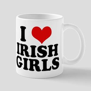 I Heart Irish Girls Red Mug