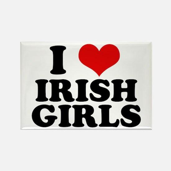 I Heart Irish Girls Red Rectangle Magnet