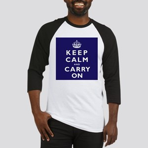 KEEP CALM and CARRY ON dark blue Baseball Jersey