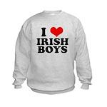 I Love Irish Boys Red Heart Kids Sweatshirt