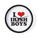 I Love Irish Boys Red Heart Wall Clock