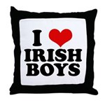 I Love Irish Boys Red Heart Throw Pillow
