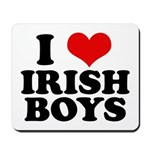 I Love Irish Boys Red Heart Mousepad