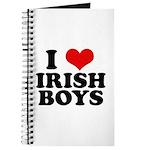 I Love Irish Boys Red Heart Journal
