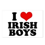 I Love Irish Boys Red Heart Postcards (Package of