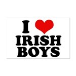I Love Irish Boys Red Heart Mini Poster Print