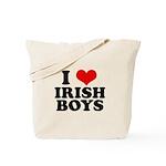 I Love Irish Boys Red Heart Tote Bag