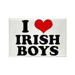 I Love Irish Boys Red Heart Rectangle Magnet (10 p