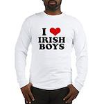 I Love Irish Boys Red Heart Long Sleeve T-Shirt