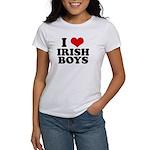 I Love Irish Boys Red Heart Women's T-Shirt
