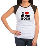 I Love Irish Boys Red Heart Women's Cap Sleeve T-S