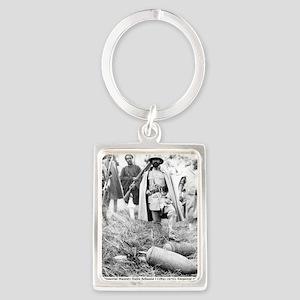 Selassie and Lion pics 005 Portrait Keychain