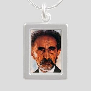 Selassie and Lion pics 0 Silver Portrait Necklace