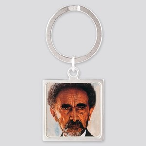 Selassie and Lion pics 009 Square Keychain