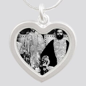 Selassie and Lion pics 008 Silver Heart Necklace
