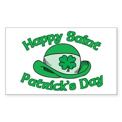 Happy Saint Patrick's Day Rectangle Decal