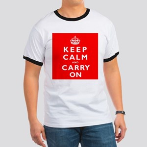 KEEP CALM and CARRY ON original red Ringer T