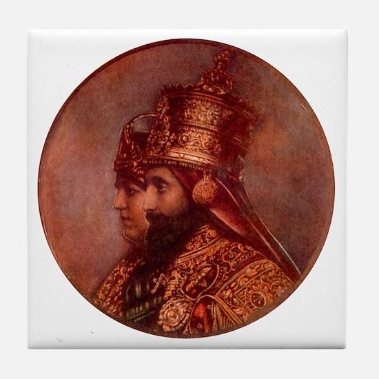 Selassie and Lion pics 015 Tile Coaster