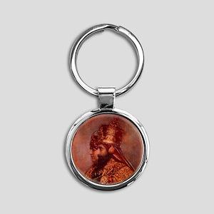 Selassie and Lion pics 015 Round Keychain