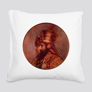 Selassie and Lion pics 015 Square Canvas Pillow