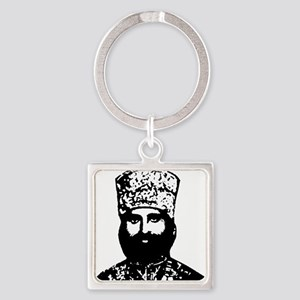 Selassie and Lion pics 016 Square Keychain