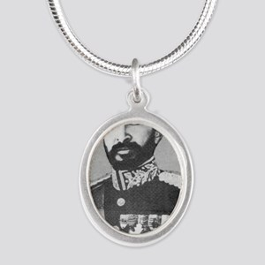 Selassie and Lion pics 020 Silver Oval Necklace