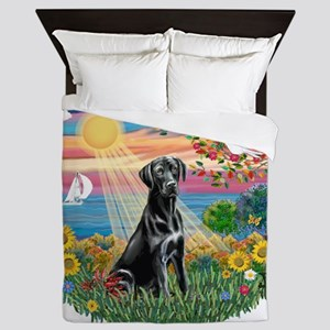 Autumn Sun - Blackk Lab Queen Duvet