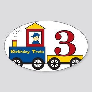 birthdaytrain3 Sticker (Oval)
