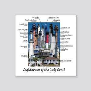 "Gulf Coast 10 x 10 Square Sticker 3"" x 3"""