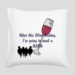 Napa Valley wine tasting Square Canvas Pillow