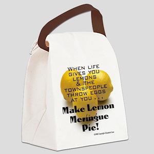 LemonMeringueButtonLG Canvas Lunch Bag