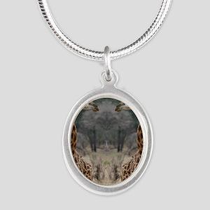 thonggiraffe Silver Oval Necklace