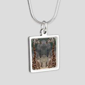 thonggiraffe Silver Square Necklace