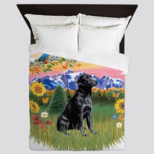 Mt Country - Black Lab Queen Duvet