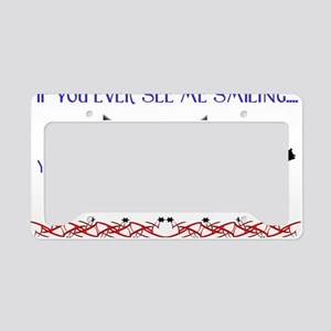 5 minutes to run trans. License Plate Holder