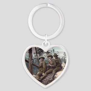 Girl Scout Camp Heart Keychain