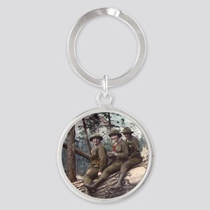 Girl Scout Camp Round Keychain