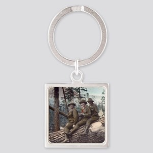 Girl Scout Camp Square Keychain