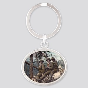 Girl Scout Camp Oval Keychain