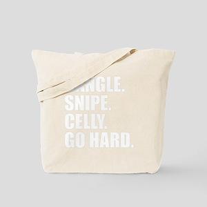 GO HARD WHITE Tote Bag