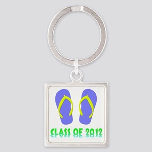 Class Of 2012 Flip Flop - Yellow-B Square Keychain