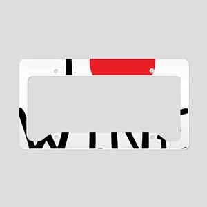 i love wine License Plate Holder