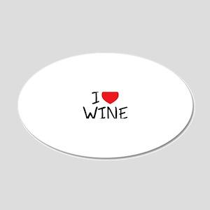 i love wine 20x12 Oval Wall Decal