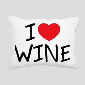 i love wine Rectangular Canvas Pillow