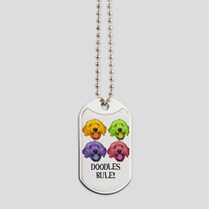 Doodles Rule Dog Tags