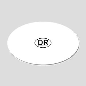 dr_dominicanrepublic 20x12 Oval Wall Decal