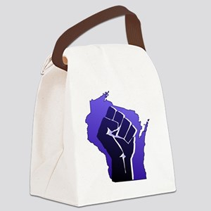 Wisconsin Solidarity Fist Canvas Lunch Bag