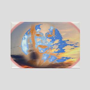 SkyGuru Oval 2 Rectangle Magnet