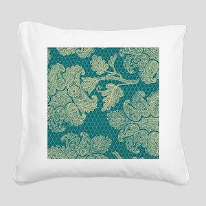 flipflops193 Square Canvas Pillow