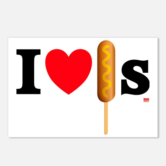 i love corndogs Postcards (Package of 8)